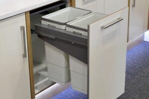 Pull Out Kitchen Waste Bin, Unicargo Recycle Waste Bin to suit 450mm Unihopper