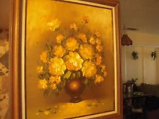 Michael Ritter Cannon Floral Still Life Oil on Canvas Painting Framed and Signed