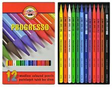 12 Colores Progresso Koh I Noor Pastel Combinable woodless Color artista Lápices
