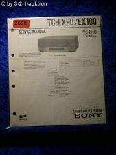 Sony Service Manual TC EX90 / EX100 Cassette Deck  (#2590)