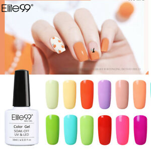 Elite99 UV LED Macaron Colour Gel Nail Polish Top Base Coat Manicure Lacquer