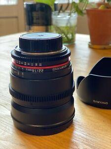 Samyang 16mm  T2.2 VDSLR Cine (TOURNAGE VIDEO) OBJECTIFS Nikon