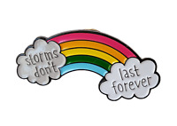 100% UK STOCK Rainbow pin badge thank you NHS doctor key workers gift