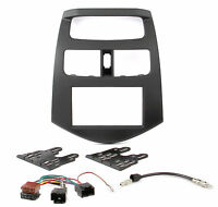 Radioblende Set für Chevrolet Spark M300 ab 2010 2DIN Adapter Kabel Doppel Din
