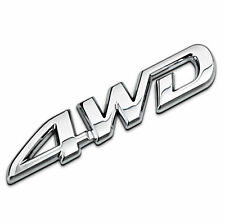1pc New Silver Chrome Metal 4WD car sticker badge rear decal tailgate emblem