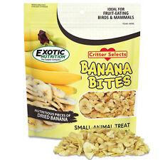 Banana Bites 2.75 oz - Healthy Treat - Sugar Glider, Chinchilla, Hedgehog, More