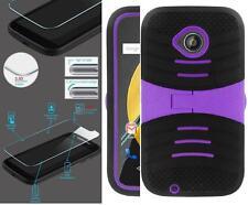 NP ARMOR Glass Screen Guard + Case For Motorola Moto E (2nd Gen) XT1527 uBLk/PUR