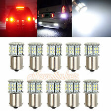 10X Car LED Brake Turn Stop Tail Light Indicator Bulb 1156 Bulb 50 SMD White AU