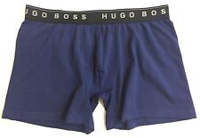 "Hugo Boss Men's L Cyclist Boxer Trunks Navy Blue Large Size 34""-36"""