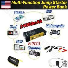 24000mAh 12V Portable Car Jump Starter Pack Booster Charger Battery 800A 2USB