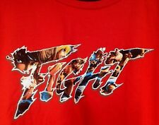 NEW Street Fighter V Mens XL T-shirt Loot Crate Gaming June 2016 RED cotton