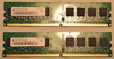 Qimonda HYS64T64000HU-3S-B 2x512MB 1 GB DDR2 Ram Memoria de PC2-5300U-555-12-D0 (007)