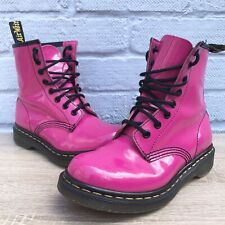 Dr Martens Shocking Pink Patent Leather Boots Size 3