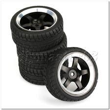 4 x Kunststoff-Drift Reifen & Alloy 10-Speichen-Felge f