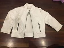 Pumpkin Patch Gorgeous Soft White 'Leather' Jacket Girls 12-18mths. Great Cond!