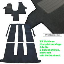 Velour Fußmatten Komplettauslage für VW T5 Multivan 2 Schiebetüren Bj.2003-2015
