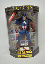 "Marvel Legends Icons Captain America Action Figure 2006 New 12"" Avengers"