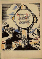Alte Künstlerkarte Kunst Postkarte ungelauf. ~40/50er Jahre Kunstverlag Stegmann
