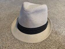 STETSON All American Mens Fedora Hat Tan Tweed Beige w Band Small/Medium S/M EUC