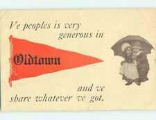 Divided-Back COMIC POSTCARD Old Town Maine ME HM4770