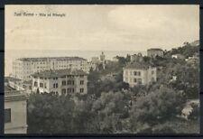 Italia Regno 1917 Sass. Z207 Cartolina 100% San Remo - Ville ed Alberghi - viag