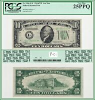 1934A Star $10 Chicago Federal Reserve Note PCGS 25 PPQ Very Fine VF FRN