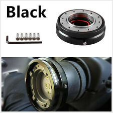 Versión delgada negro adaptador de liberación rápida de Coche de Carreras Volante Hub Boss Kit