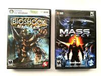 BioShock - Mass Effect - PC Game Lot w/Access Keys
