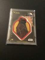 2020 Topps Star Wars Holocron Commemorative Creature Patch Jawa with R2-D2