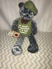 "Chantilly Lane Musicals Plays ""When I'm 64"" Shelf Sitter Plush Bear Grandpas"