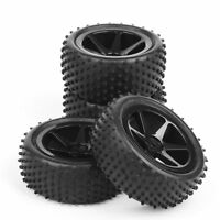 New Set of 4PCS Wheel Rim & Rubber Tires For RC 1:10 Off-Road Buggy Car