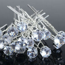 20x Clear Crystal Rhinestone Diamante Wedding Bridal Prom Hair Pins Hairpin Set