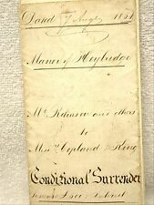 Victorian Conditional Surrender Legal Document Manor Heybridge Essex 1851 Seals