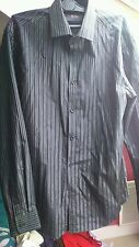 Chemise homme Brice Taille M Noir a rayures