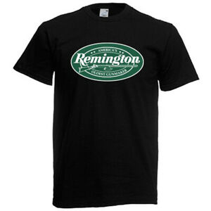 Remington Logo Guns Firearms Men's Black T-Shirt Size S to 5XL