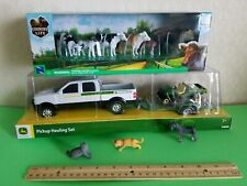 Ertl John Deere pickup trailer Gator + Premium farm COWS/BULL/ DOG/CATS LOOK