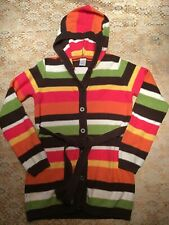 Gymboree Long Sweater, Size Large, 10-12. Cotton.  Striped With Belt