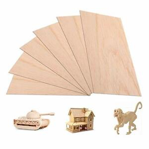 Large Thin Wood Boards for Crafts Moisture Resistance Anti-Deformation Easy Cutting Painting Unfinished Natural Basswood Board for DIY Models KEILEOHO 6 Pack Balsa Wood Sheets 12 x 8 x 0.06 Inch