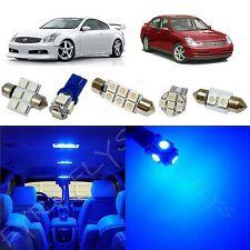 10x Blue LED lights interior package kit for 2003-2006 Infiniti G35 IG1B