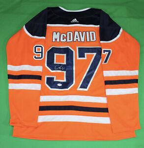 CONNOR MCDAVID SIGNED AUTOGRAPH EDMONTON OILERS HOCKEY JERSEY PSA/DNA NHL COA