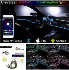 RGB LED Car Interior Neon EL Strip Light Sound Active Bluetooth Phone Control