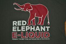 Red Elephant E-Liquid E-Cig Vape Vapor Company T Shirt Large Nice