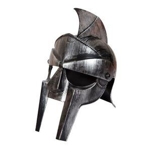 Silver Gladiator Roman Helmet Adults Centurion Plastic Fancy Dress Accessory