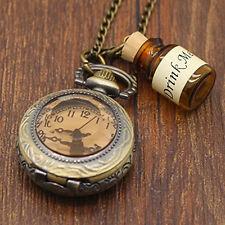 New Vintage Drink Me Wishing Bottle Packet Watch Alice in Wonderland Pro AU