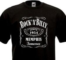 T-Shirt ROCK'A'BILLY Rockabilly Rock'n Roll Teddy Boy Flying Saucers Crazy Cavan