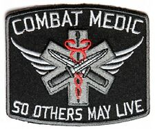 "(D3) COMBAT MEDIC 3.5"" x 3"" iron on patch (4605) So Others May Live"