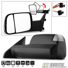 2009-2012 Dodge Ram Power Heated LED SMOKED Signal Tow Flip Mirror DRIVER Side