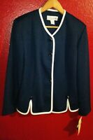 Women's Pablo Collection Blue Button Down Blazer Size 14P New with Tags