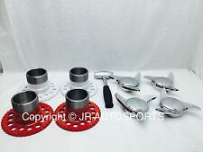 4 wire wheel adapters 3 Bar 3 Way swept Smooth chrome knock offs Spinners hammer
