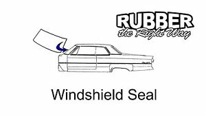 1960 1961 Ford Galaxie (Starliner) Windshield Seal - 2 Door Hardtop [#63A]